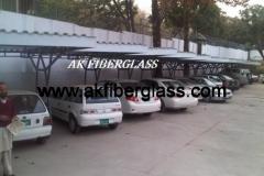 FIBERGLASS CAR PARKING