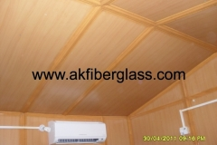 FIBERGLASS ROOM INSIDE WITH LASSANI WOOD